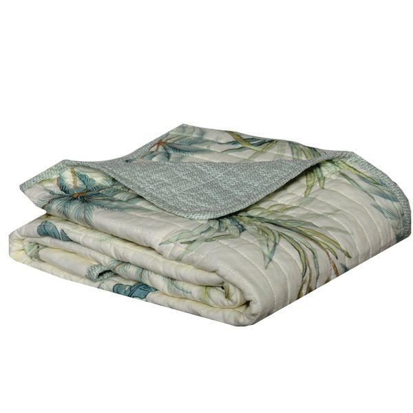 Tommy Bahama Serenity Palms Quilted Cotton Throw