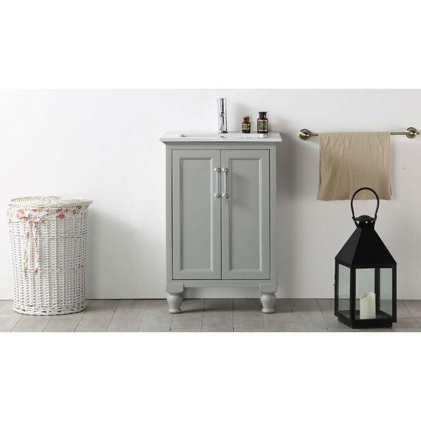 Legion Furniture 24-inch Cool Grey Single Bathroom Vanity