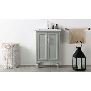 Legion Furniture 24-inch Cool Grey Single Bathroom Vanity