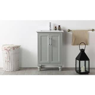 Legion Furniture 24 Inch Cool Grey Single Bathroom Vanity