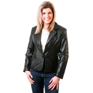 Lamb Nappa Black Blazer Jacket