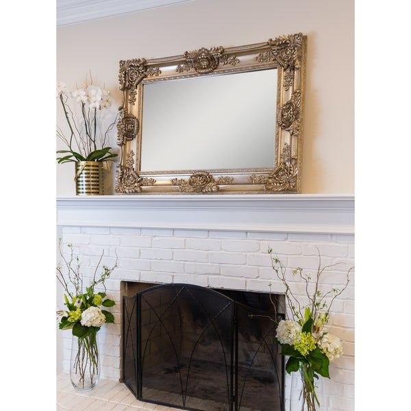 Overstock Mirrors: Shop Mayfair Large Wall Mirror Champagne