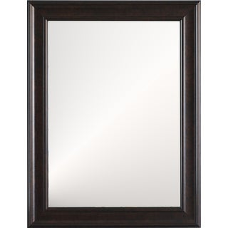 Manhattan Large Wall Mirror with Espresso Frame