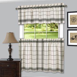 Achim Bainbridge Window Curtain Tier and Valance Set