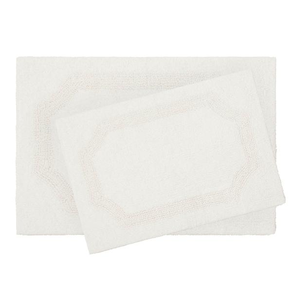 Laura Ashley Reversible Cotton 2-Piece Bath Mat Set
