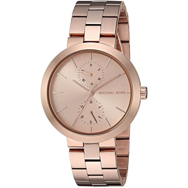 2bfbbf3049d2 Shop Michael Kors Women s MK6409  Garner  Chronograph Rose-Tone Stainless  Steel Watch - Free Shipping Today - Overstock - 12731911