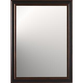 Lauren Medium Wall Mirror - Brown/Black - 31 inches x 23.5 inches x 1 inch