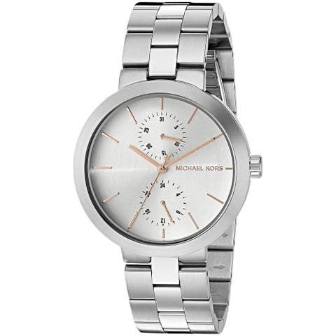 Michael Kors Women's MK6407 'Garner' Chronograph Stainless Steel Watch - silver