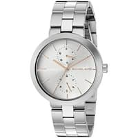 Michael Kors Women's  'Garner' Chronograph Stainless Steel Watch - silver