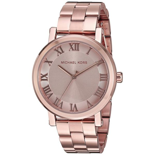 88acd7c076c3 Shop Michael Kors Women s MK3561  Norie  Rose-Tone Stainless Steel Watch -  Free Shipping Today - Overstock - 12731916