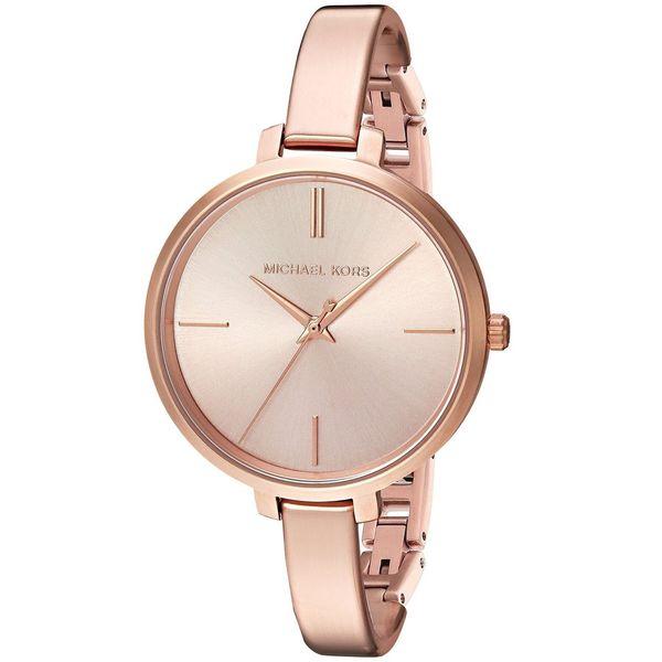 254b5bbb95ea Shop Michael Kors Women s MK3547  Jaryn  Rose-Tone Stainless Steel Watch -  Free Shipping Today - Overstock - 12731936