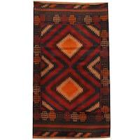 Herat Oriental Afghan Hand-knotted Tribal Balouchi Wool Rug (2'9 x 4'7) - 2'9 x 4'7