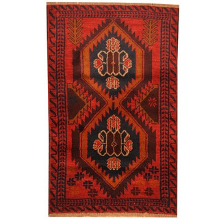 Herat Oriental Afghan Hand-knotted Tribal Balouchi Wool Rug (3' x 4'7)