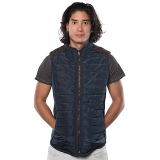Rock Revolution Men's Polyester Quilted Fur-lined Zip Up Vest