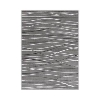 Porch & Den Somerville Newbury Grey Rectangle Plush Indoor Area Rug (5'2 x 7'2)