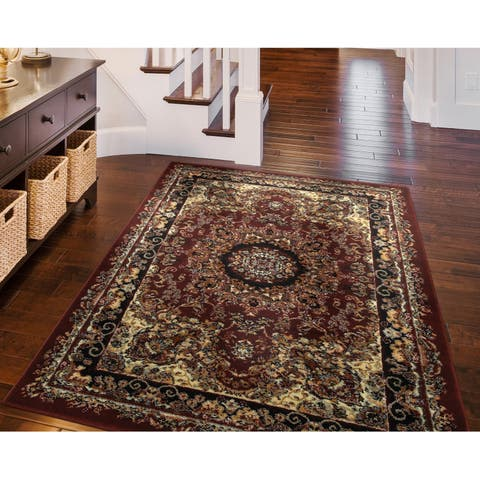 "LR Home Grace Dramatic Oriental Indoor Area Rug ( 7'9"" x 9'5"" ) - 7'9 x 9'6"