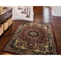 LR Home Grace Dramatic Oriental Indoor Area Rug - 7'9 x 9'6