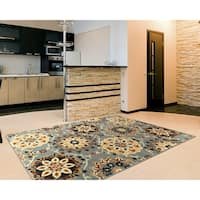 "LR Home Grace Suzani Indoor Area Rug ( 7'9"" x 9'5"" ) - 7'9 x 9'6"