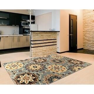"LR Home Grace Suzani Indoor Area Rug ( 7'9"" x 9'5"" ) - 7'9 x 9'6"