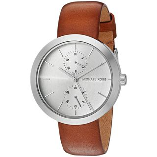 Michael Kors Women's MK2573 'Garner' Chronograph Brown Leather Watch