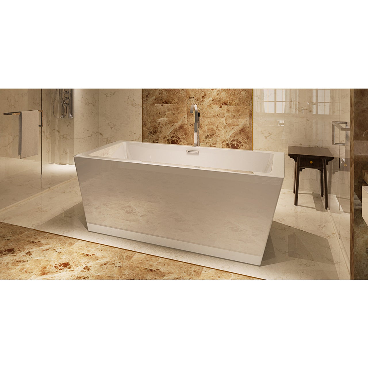HelixBath Centaur Freestanding White Acrylic 67-inch Bath...
