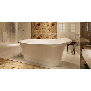 HelixBath Olympia Freestanding Deep Soaking Bathtub