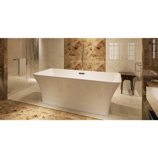 HelixBath Parva Freestanding White Acrylic 59-inch Bathtub