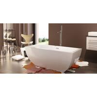 HelixBath Velia Freestanding Curved Soaker Bathub