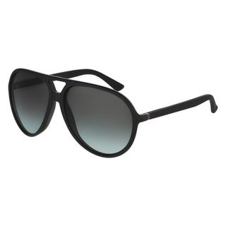 Gucci Mens GG1090/S 0D28 3H Black Aviator Polarized Sunglasses