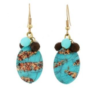J&H Designs Cluster Drop Earrings