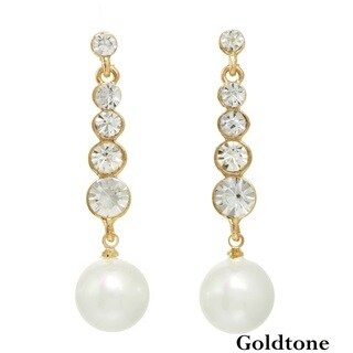 J&H Designs Stone Stick Pearl Drop Earrings (11-12mm)