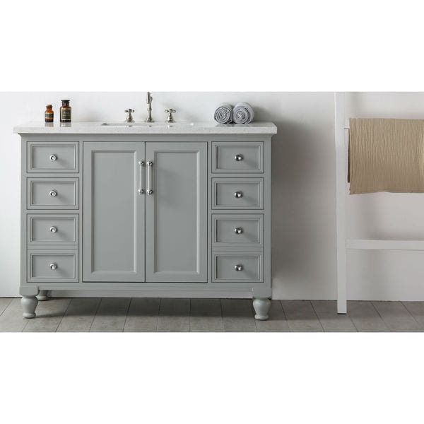 Shop Legion Furniture Quartz Top 48-inch Cool Grey Single ...