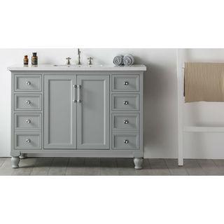 Legion Furniture Quartz Top 48-inch Cool Grey Single Bathroom Vanity