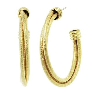 J&H Designs Sparkle Hoop Earrings