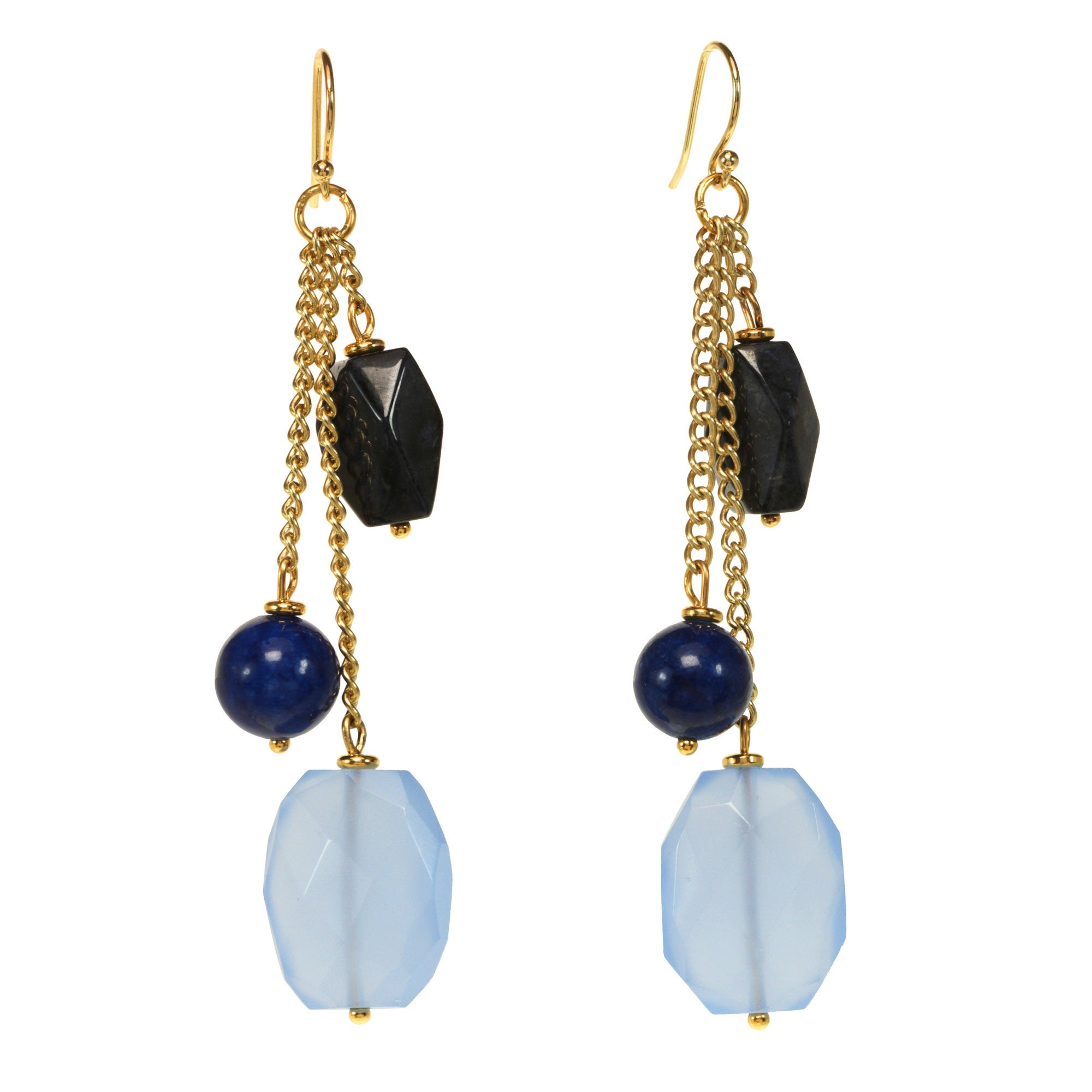 J&H Designs Goldtone Genuine Gemstone Goldtone Genuine Ta...
