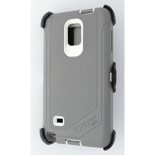 Cricket OtterBox Defender Grey/White Case for Samsung Galaxy Note 4