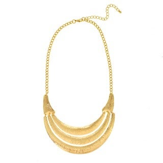 J&H Designs Hammered Three-Panel Necklace