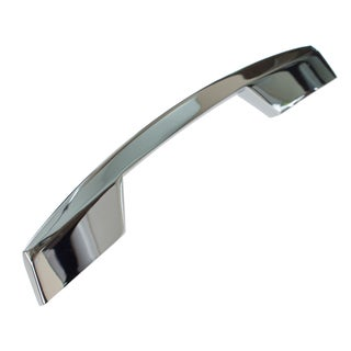 GlideRite 5-inch CC Modern Slim Angled Polished Chrome Cabinet Bar Handle Pulls (Pack of 10 or 25)