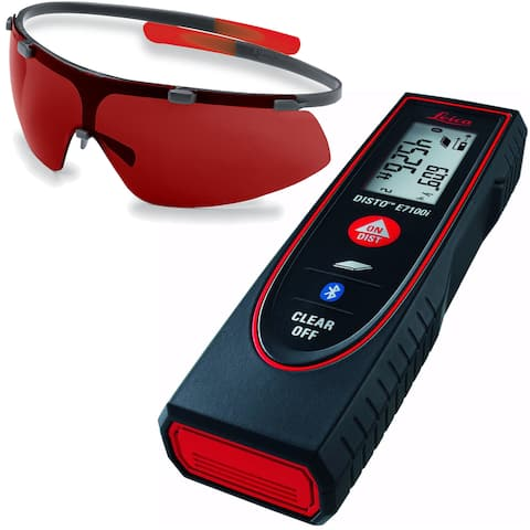 Leica DISTO E7100i Laser Distance Meter w/ GLB30 Laser Enhancement Glasses