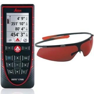 Leica Disto E7500 Laser Distance Meter With GLB30 Laser Enhancement Glasses