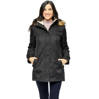 Larry Levine Women's Khaki Parka Jacket