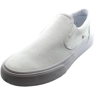 DC Shoes Men's Trase Slip-On White Canvas Athletic