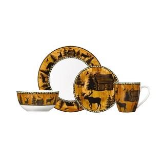Pfaltzgraff Wilderness Retreat White/Brown Porcelain 16-piece Dinnerware Set  sc 1 st  Overstock & Winter Dinnerware | Find Great Kitchen u0026 Dining Deals Shopping at ...