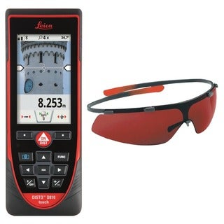 Leica DISTO D810 Touch Laser Distance Meter With GLB30 Laser Enhancement Glasses