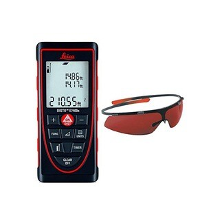 Leica DISTO E7400x Laser Distance Measurer With GLB30 Laser Enhancement Glasses