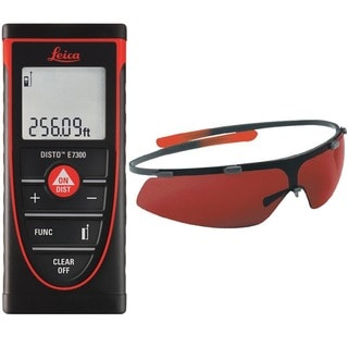 Leica DISTO E7300 Laser Distance Meter With GLB30 Laser Enhancement Glasses