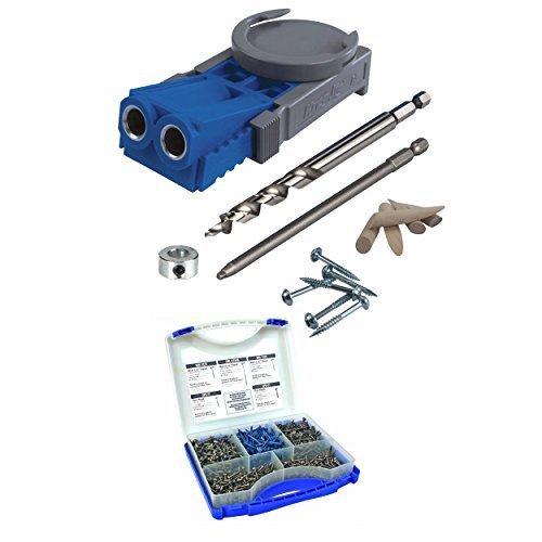 Kreg R3 Jr. Pocket Hole Jig System With SK03 Screw Kit (K...