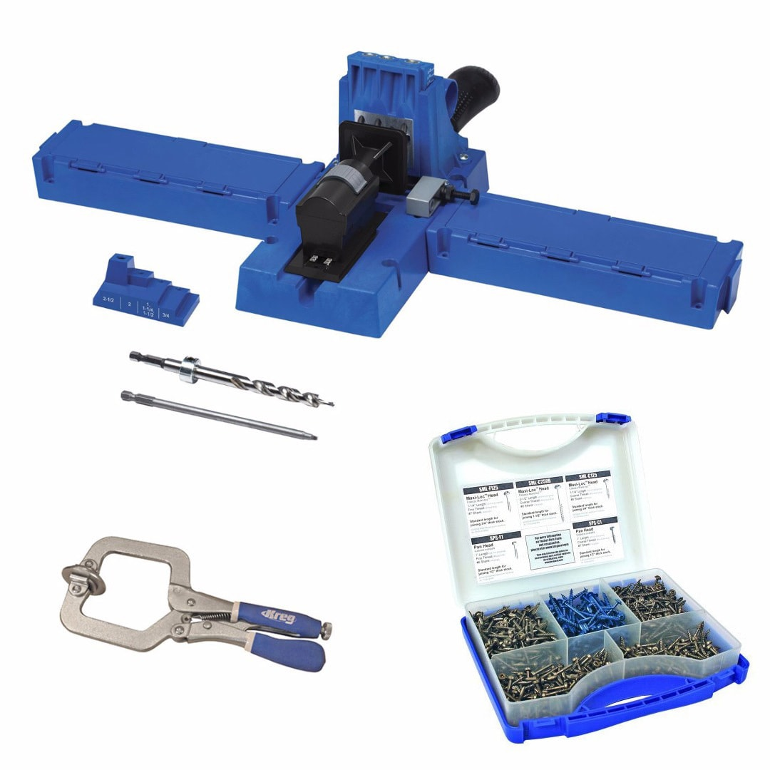Kreg K5 Pocket Hole Jig With SK03 Screws And Face Clamp (...