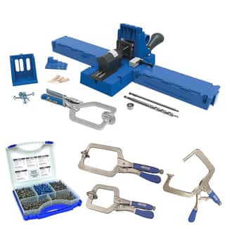 Kreg K5MS-KREG Jig K5 Master System Wood Clamp w/ Pocket-Hole Screw Kit & 3 Clamp Bundle|https://ak1.ostkcdn.com/images/products/12732492/P19511383.jpg?impolicy=medium