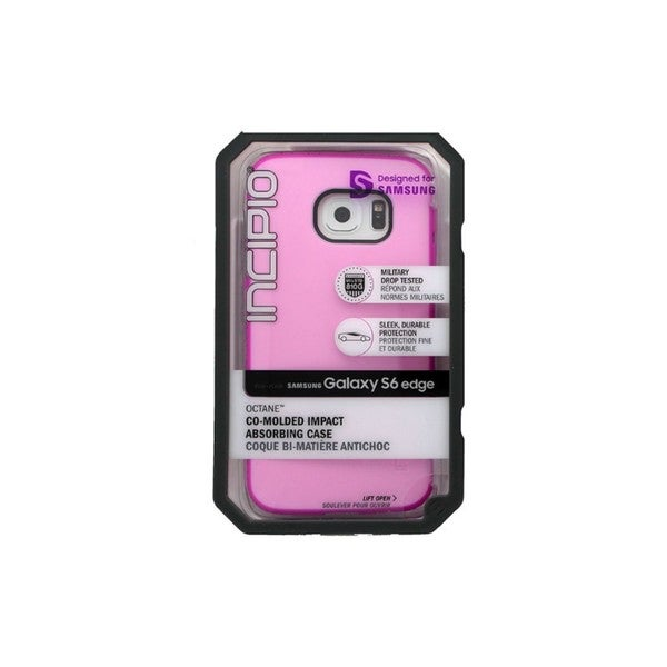 Cricket Incipio Octane Pink Samsung Galaxy S6 Edge Impact Case